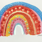 IZZY brightly coloured RAINBOW painting Jo Roper