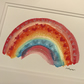 RUBY brightly coloured RAINBOW painting Jo Roper