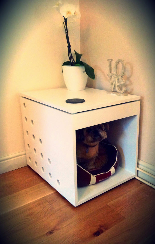 Contemporary Dog Bed Crate Side Table Without Folksy