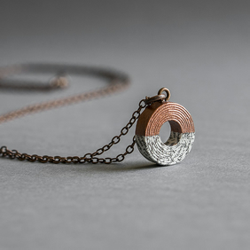 Personalised Paper and Copper Necklace
