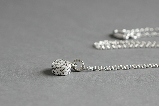 Personalised 1st Anniversary Necklace