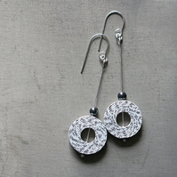 Personalised 1st Anniversary Earrings