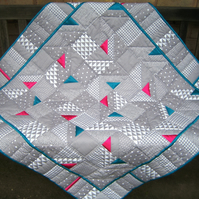 Satin Triangle Quilt