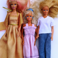 3 Barbie outfits