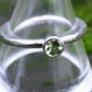 Silver and Peridot Solitaire Ring