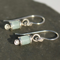 Reels  - silver and Amazonite earrings