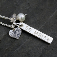 Personalised silver charm necklace -