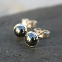 Haematite  stud earrings sterling silver, gemstone studs