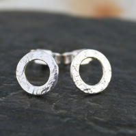Silver stud earrings circles