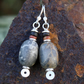 Silver and Stone - dangly earrings