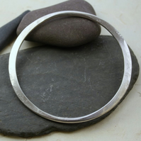 Sterling Silver forged bangle Omi