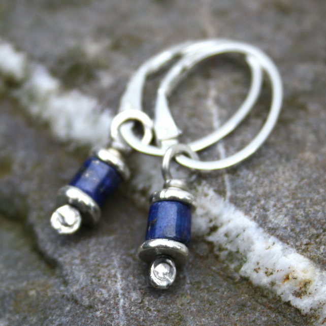 Reels  - silver and Lapis Lazuli earrings