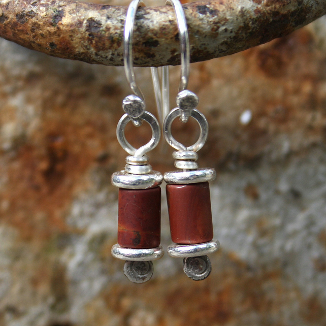 Silver and jasper earrings Reels