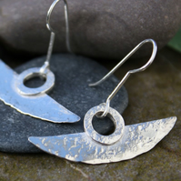 Blade tribal silver earrings.