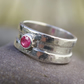 silver and ruby ring - Rill
