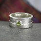 silver and peridot Rill ring
