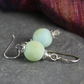 Frosted amazonite and silver earrings