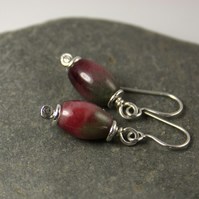 Tourmaline and silver earrings