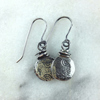 sterling silver wire wrapped Relic earrings