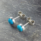Turquoise stud earrings sterling silver.