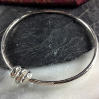 Silver Abacus Bangle