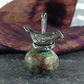 Sterling silver and turquoise bird nest pendant