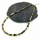 Jasper, jade, hematite and silver necklace