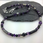 Amethyst, jasper, hematite and silver necklace