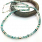 Silver amazonite and peruvian opal necklace