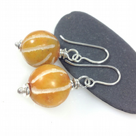 Silver and jade Gooseberry earrings