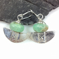 Silver and chrysoprase earrings