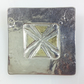 Silver and 18ct gold square brooch