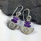 Ulu  , handmade silver and amethyst earrings