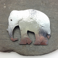Elephant brooch sterling silver