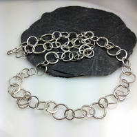 Sterling silver handmade chain necklace