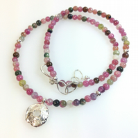 Silver and tourmaline Rai necklace