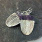 silver and amethyst Tribe earrings