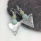 Silver and amazonite tribal earrings