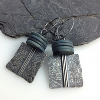 Silver and shell Core earrings