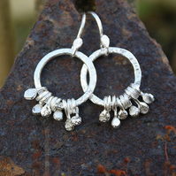 Sterling silver earrings - Spore
