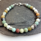 Amazonite and silver bracelet