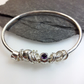 Silver amethyst and gold bangle  No Worries Bangle