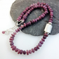 Silver and ruby bead necklace