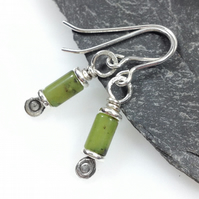 Reels  - silver and chrysoprase earrings