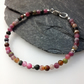 Tourmaline and sterling silver bead bracelet