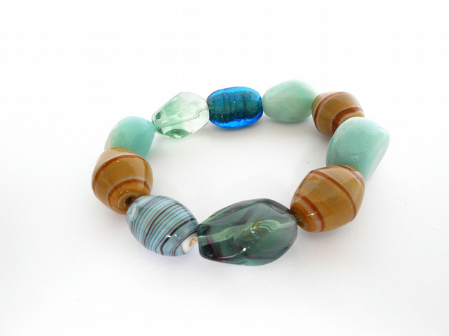 SALE!!! Amazonite,Fluorite and Mixed Stone Bracelet