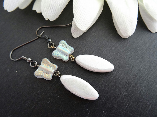 Czech Glass Butterfly Earrings