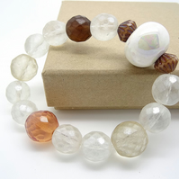 Ceramic and Czech Glass Bracelet