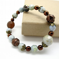 Vintage Czech Glass Bead Bracelet