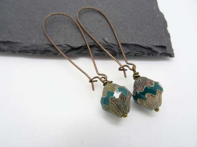 Czech Glass Bead Earrings